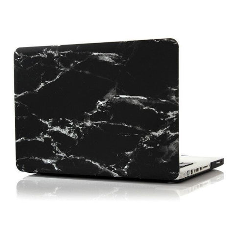 "Black & Silver Marble Laptop Case for MacBook Pro NON-Retina Display (with CD-Rom) 13"" [A1278] (Black & Silver Marble) - CinderBloq Cases & Accessories"