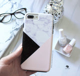 Pink Marble Black Glitter Phone Case - iPhone 5c