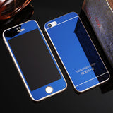 Tempered Glass Mirror Effect Chrome Protector (Blue) - Cinderbloq Cases & Accessories