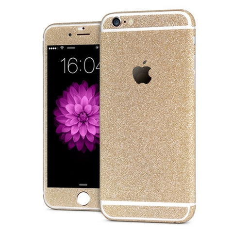 'All Blinged Out' Full Body Protective Glitter Decal Phone Skin (Champagne) - CinderBloq Cases & Accessories