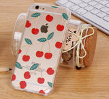 Cherry Pattern (Transparent) iPhone Case - Cinderbloq Cases & Accessories