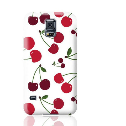 White Cherry Phone Case - Samsung Galaxy S5 - Cinderbloq Cases & Accessories