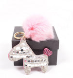 Crystal Encrusted Pony Purse Charm (Pink) - Cinderbloq Cases & Accessories