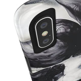 Black & White Cloud Marble Phone Case - iPhone X