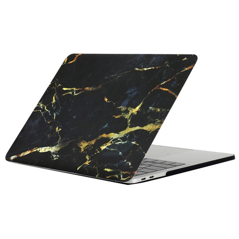 "Black & Gold Marble Laptop Case for MacBook Pro with TOUCH BAR 13"" [A1706/A1708] (Black & Gold)"