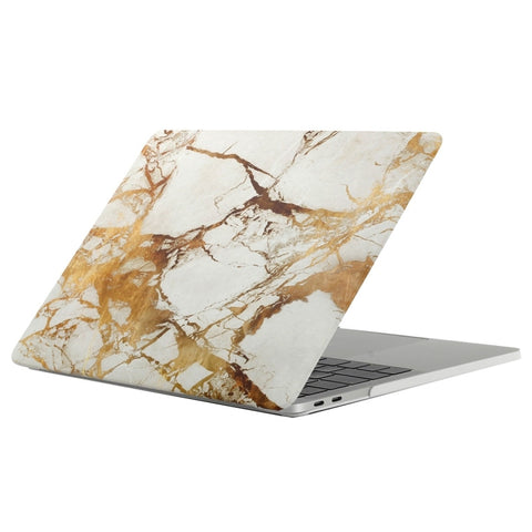 "White & Gold Marble Laptop Case for MacBook Pro with TOUCH BAR 13"" [A1706/A1708] (Gold Marble) - CinderBloq Cases & Accessories"