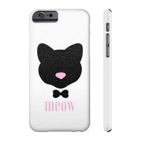Meow! Glitter Cat Phone Case