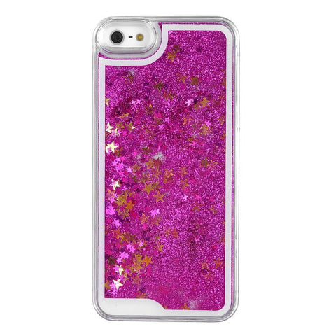 Star Dust Liquid Glitter Waterfall Case (Fuchsia) - CinderBloq Cases & Accessories
