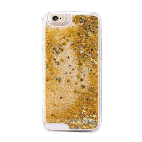 Star Dust Liquid Glitter Waterfall Case (Gold) - Cinderbloq Cases & Accessories