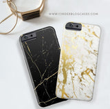 Black & Gold Marble Phone Case - iPhone 6 Plus / 6s Plus - Cinderbloq Cases & Accessories