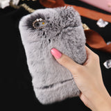 D'Luxe Fur Phone Case (Grey) - iPhone 7 - CinderBloq Cases & Accessories