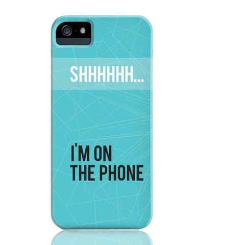 Shhh... I'm on the Phone Case - iPhone 5/5s/5se - Cinderbloq Cases