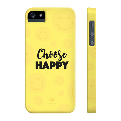 Choose Happy Phone Case - iPhone 5/5s/5se - CinderBloq Cases & Accessories