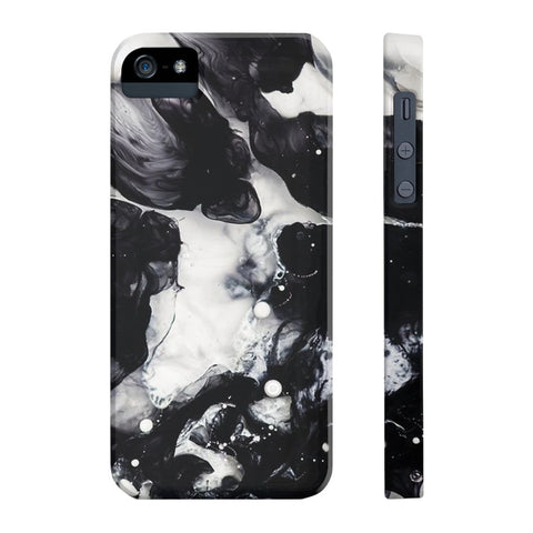 Black & White Cloud Marble Phone Case - iPhone 5/5s/5se - CinderBloq Cases & Accessories
