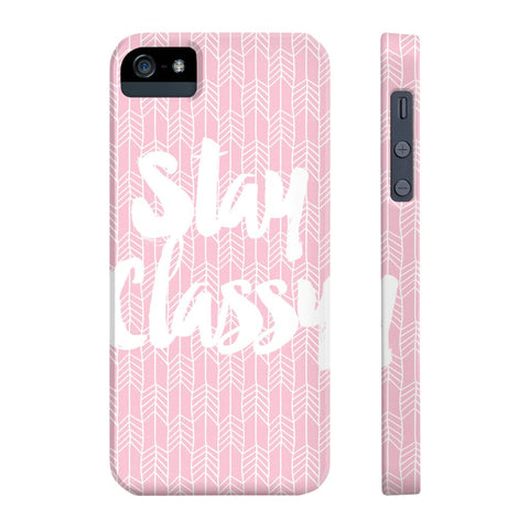 Stay Classy Phone Case - iPhone 5/5s/5se - CinderBloq Cases & Accessories