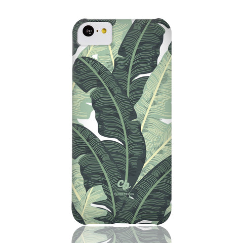 Tropical Banana Leaves Phone Case - iPhone 5c - CinderBloq Cases & Accessories