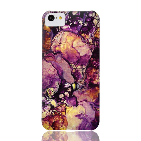 Golden Purple Galaxy Marble Phone Case - iPhone 5c