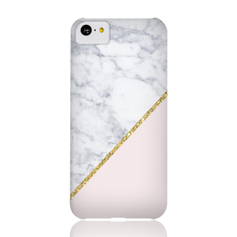 Pink Marble Gold Glitter Phone Case - iPhone 5c