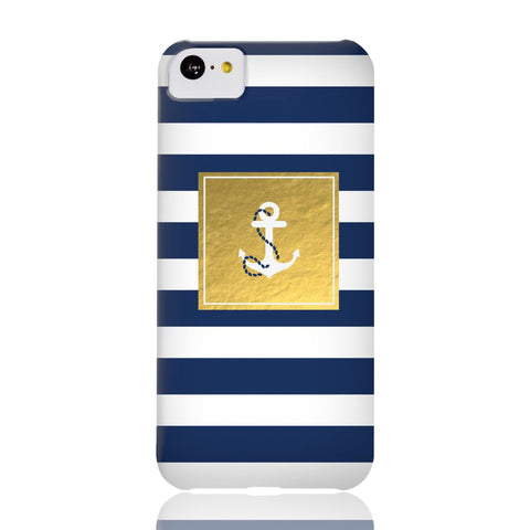Golden Striped Anchor Phone Case - iPhone 5c