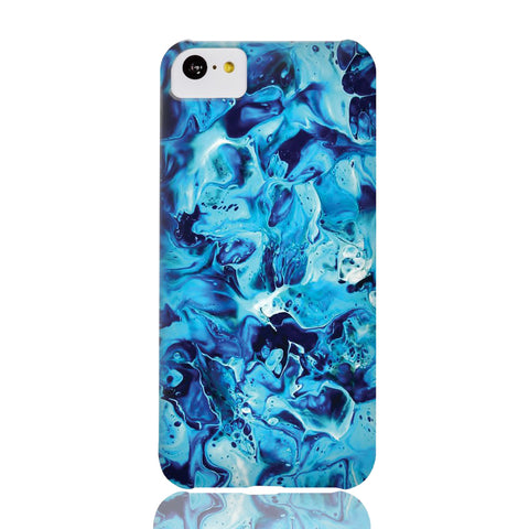 Electric Blue Marble Phone Case - iPhone 5c