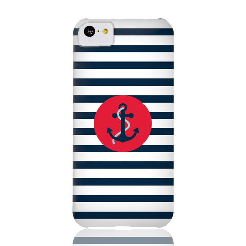 Navy Striped Anchor Phone Case - iPhone 5c - CinderBloq Cases & Accessories