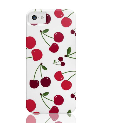 White Cherry Phone Case - iPhone 5c - Cinderbloq Cases & Accessories