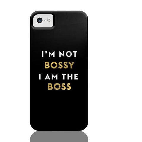 I'm Not Bossy I Am The Boss (Black) Phone Case - iPhone 5c