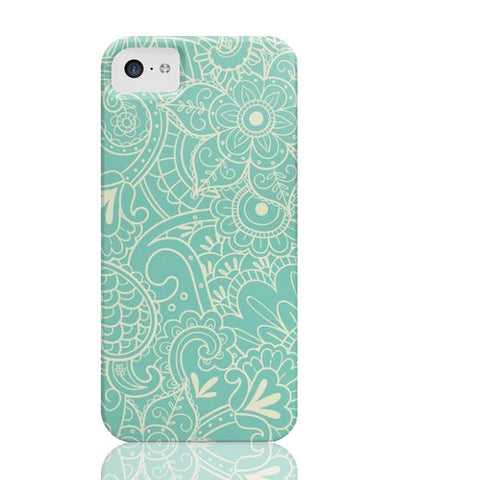 Paisley Print in Teal Phone Case - iPhone 5c - Cinderbloq Cases
