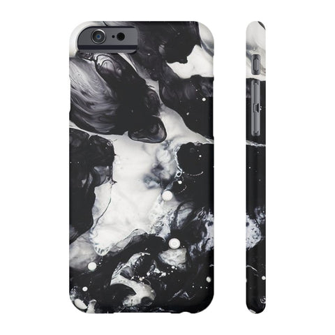 Black & White Cloud Marble Phone Case - iPhone 6/6s
