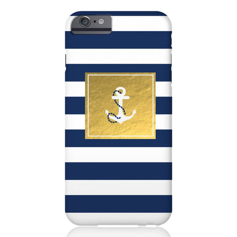 Golden Striped Anchor Phone Case - iPhone 6/6s