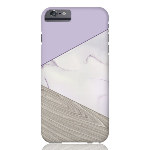 Lavender Wood & Marble Tangram Phone Case - iPhone 6/6s - CinderBloq Cases & Accessories