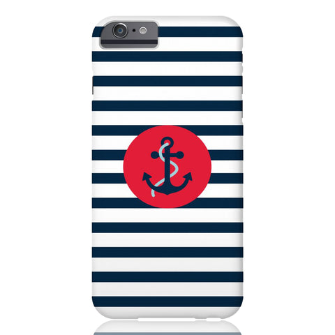 Navy Striped Anchor Phone Case - iPhone 6/6s - CinderBloq Cases & Accessories