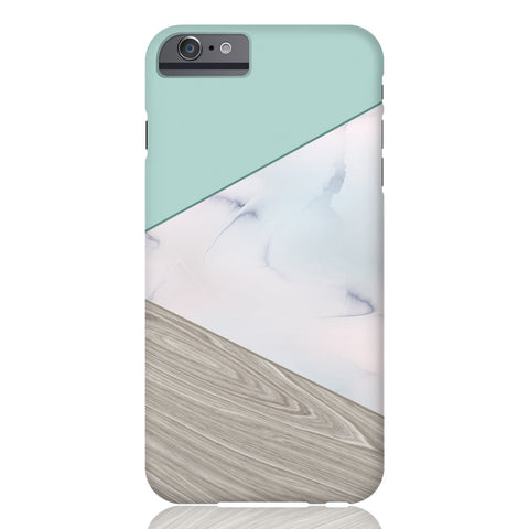 Mint Wood Marble Tangram Phone Case - iPhone 6/6s - CinderBloq Cases & Accessories