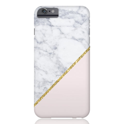 Pink Marble Gold Glitter Phone Case - iPhone 6/6s