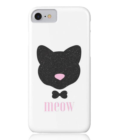 Meow! Glitter Cat Phone Case - iPhone 7 - Cinderbloq Cases & Accessories