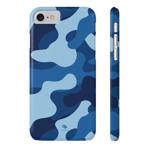 Blue Camo Phone Case - iPhone 7, iPhone 8 - CinderBloq Cases & Accessories