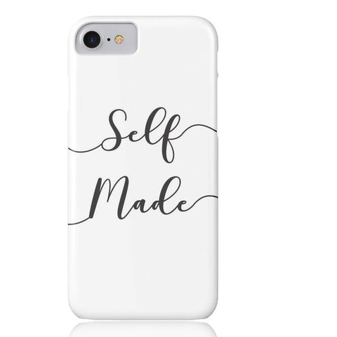 Self Made (White) Phone Case - iPhone 7 - Cinderbloq Cases & Accessories