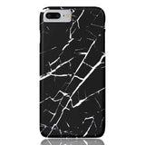 Black and White Marble Phone Case - iPhone 7 Plus / 8 Plus