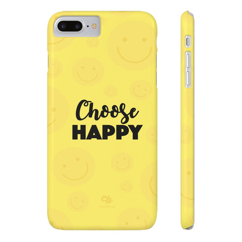 Choose Happy Phone Case - iPhone 7 Plus / 8 Plus - CinderBloq Cases & Accessories