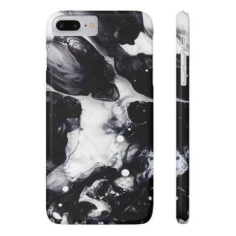 Black & White Cloud Marble Phone Case - iPhone 7 Plus / 8 Plus - CinderBloq Cases & Accessories