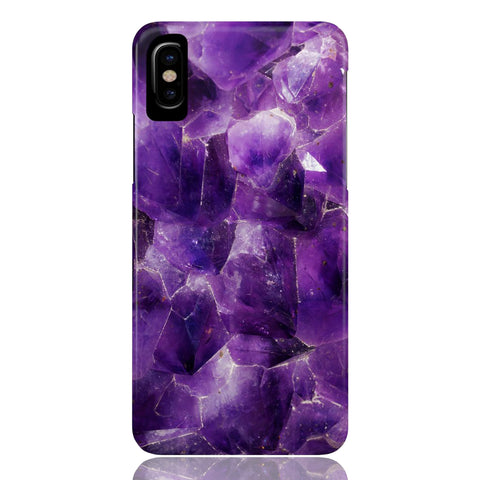 Amethyst Stone Marble Phone Case