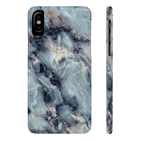 Blue Pearl Marble Phone Case - iPhone X - CinderBloq Cases & Accessories