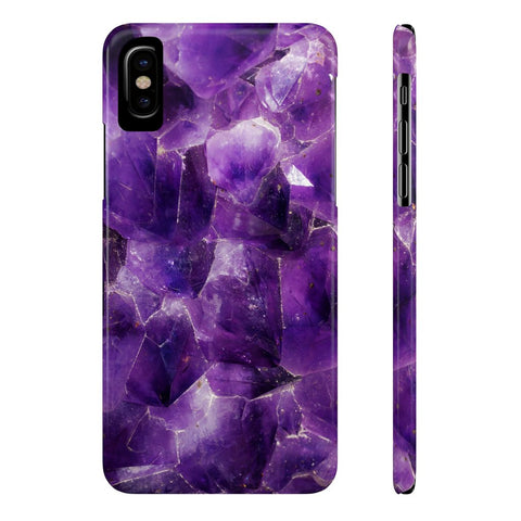 Amethyst Stone Phone Case - iPhone XR - CinderBloq Cases & Accessories