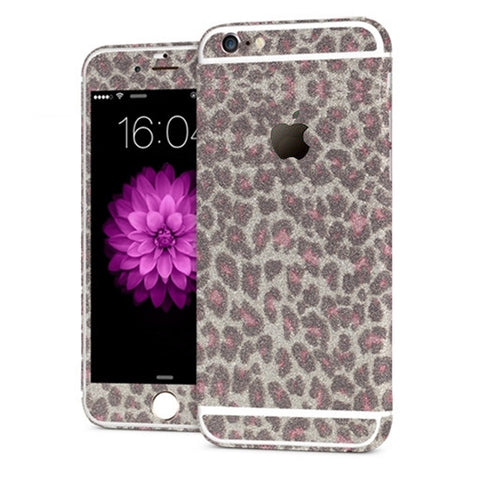 'All Blinged Out' Full Body Protective Glitter Decal Phone Skin (Leopard) - Cinderbloq Cases & Accessories