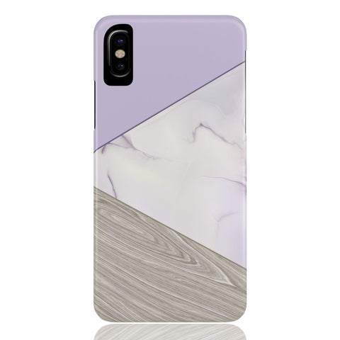 Lavender Wood & Marble Tangram Phone Case - CinderBloq Cases & Accessories