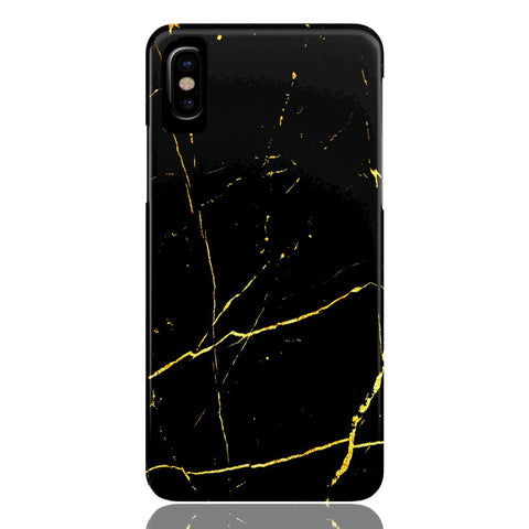 Black & Gold Marble Phone Case - iPhone X