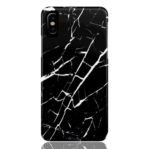 Black and White Marble Phone Case - iPhone X - CinderBloq Cases & Accessories