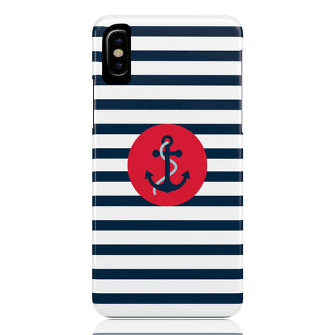 Navy Striped Anchor Phone Case - CinderBloq Cases & Accessories