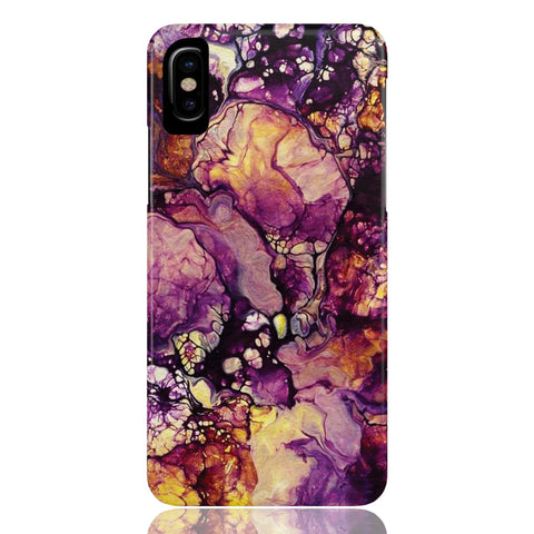 Golden Purple Galaxy Marble Phone Case