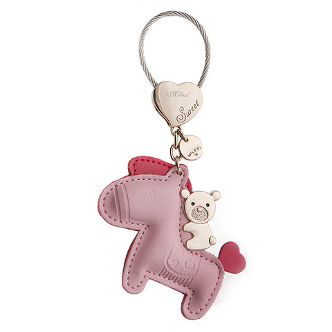 Lux Pink Pony Leather Purse Charm / Key Chain - CinderBloq Cases & Accessories
